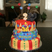 Circus Theme Only my second fondant cake! I made it for my nephew's second birthday =)