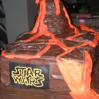 Star Wars Lava Cake