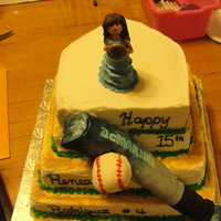 15Th Softball Cake
