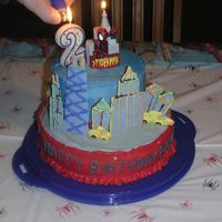 Spiderman Cake idea from wilton