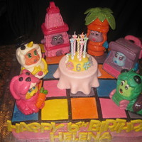 Party Animals Cake Party Animals on Disco Dance Floor Fondant cake.Cake and all Party Animals made out of Fondant.Made it for my daughters 6th Birthday.She...