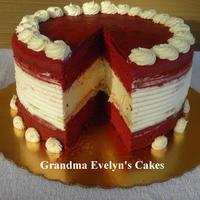 Red Velvet Cheesecake The look on the client's face ... PRICELESS! (Looks like we did it again, Grandma! I love and miss you! )
