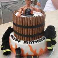 Fireman Birthday Cake I made this for my friend who is obsessed with good looking firemen.