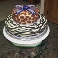 Cheetah And Zebra Print Cake.