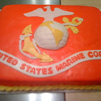 Marine Flag My neighbor's son returned from boot camp, so I made him this cake. I made the sheet cake and used half of the soccer ball cake for...