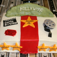 "Hollywood Cake I did this cake for my 11 year old niece for her birthday. The theme was ""Hollywood"". She loved it! It is a 9 x 13 cake double..."