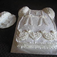 Baptism Dress Cake Yellow cake with butercream frosting