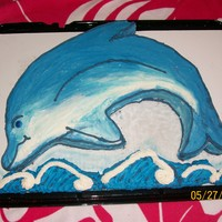 Dolphin I was asked by my daughter's friend to make her 12th birthday cake. She wanted a Dolphin, and I think it turned out pretty good for an...
