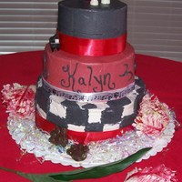 Sweet 16 Twilight Saga My daughter and I created a perfect Twilight inspired Sweet 16 cake using all the book covers and Edward's lulliby for Bella as...