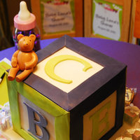 Baby Block Cake Baby Block Themed Shower Cake
