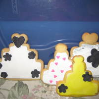 Wedding Cookies For Bridal Shower Made assorted shaped butter & shortbread cookies for my daughter's bidal shower. Used fondant on some and others I used royal...