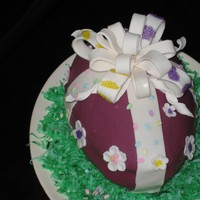 Easter Egg Cake Easter Egg Cake -Strawberry cake with fresh strawberry & white chocolate Filling,Cake is covered with poured Petite Four Icing from...