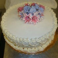 Chocolate Cake Covered With Fondant & Gum Paste Flowers