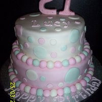 21St Birthday Cake 8in and 10in vanilla cakes with vanilla buttercream, covered in fondant with fondant accents and swarovski crystals on the two numbers. TFL...