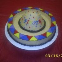 "Sombrero Cake  Thanks to boween for the great idea! I made this cake for a ""Fiesta"" that my Sunday School Class had. The top of the sombrero is..."