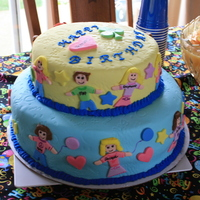 Family Birthday Cake February And March We had a family birthday party for all of my family members birthday's in February and March. I made little cut out people of each...