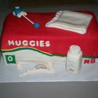 Huggies Diapers Cake All decorations are fondant