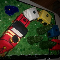 Buddy Train Cake Birthday cake for a friend. Her best friend's husband always says that we are all on the buddy train together. So he suggested the...