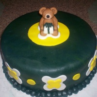 Teddy Bear Cake I talked to my friend this afternoon about my making a birthday cake for her husband. She is picking it up in the morning, so I only had...