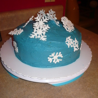 Snowflake Cake I made this snowflake cake for my family's Christmas gathering. It is a yellow 2 layer cake with chocolate bavarian cream filling....