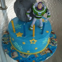 Buzz Lightyear Birthday cake for my 4 yr old. This was my first time using non-crusting buttercream. I think I like it! It was also my first time using...