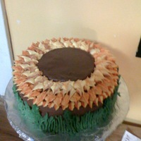 Sunflower   All Buttercream icing. Yellow cake