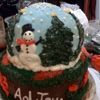Snoglobe   snowglobe cake for Aol holiday potluck party