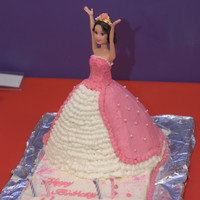 Princess Cake   Decorations are 100% buttercream. I used the Wilton wonder mold and a snow white barbie doll.