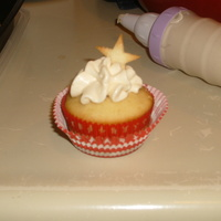 Apple Pie Cupcake Made these for a 4th of July party. The stars are made from pie crust.