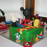 Mickey Mouse Clubhouse I did this cake for my daughter's 2nd birthday... It is a 2 layer 10 inch cake, and everything is etible except the MM head. I was...