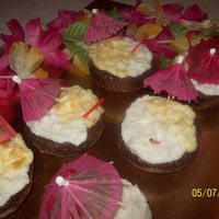 If You Like Pina Coladas...drink Cupcakes! Used mini ball cupcake pan to make these beauties! I was so pleased with them. I made them to be toppers for my Pina Colada cake. Used an...