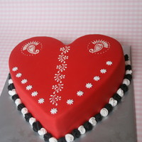 Heart Stencilled With Buttercream