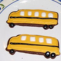 The Wheels On The Bus Go Round And Round! School is going to be starting again soon, so I'm working on these cookies for my children to bring on the first day of school.