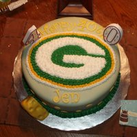 Greenbay Cake This was for a 40th bday/ Superbowl party. The cake was the best chocolate cake EVER and the result of a mistake! I bought a DH devil'...
