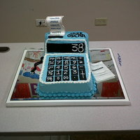 Calculator 3D Cake   This cake was made for a financial business man.