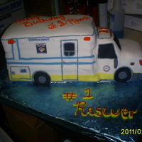 Rescue 3D Hazmat This cake was made for a rescuer guy. The people love it!