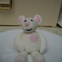 Teddy My first time ever playing with fondant. He is a little wonky, but I'll keep practicing:-)