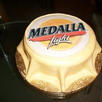 Medalla Beer Cap Cake   This was done for a friend