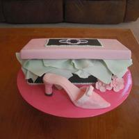 Shoebox With Shoe This is my first shoe and shoebox cake. I couldn't finish the cake the way I wanted to because I ran out of time. Next time: start...