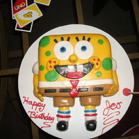 Spongebob This is my first fondant cake.