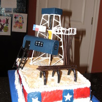 Drilling Rig Cake I made this for my husband and the employees at Chesapeake Energy. Some parts on top were styrofoam others were covered fondant. I wish I...