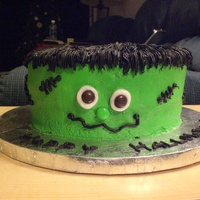 Frankenstein My boss asked me to make this cake for her grandson's class at school. Since he is in kindergarden, I wanted a Halloween cake that...