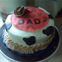 Father's Day 2010 I made this cake for my Dad, who is a cowboy at heart. :) Sorry for the terrible background, I made it in my parents kitchen and didn'...