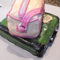 Going Away Party Cake - Suitcases