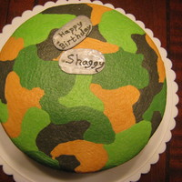 Camo Cake I did this cake using jammjenks method for buttercream camo. I asked my brother what kind of cake he wanted and all he asked for was...