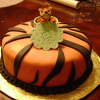 Tiger Cake This was going to be my final cake for Wilton Class 4 but I got sick. I finally got to make it. It's a strawberry cake with whipped...