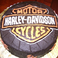 Harley Tire My mother's friend wanted a Harley themed cake for a coworkers birthday. I had so many issues, but I got to try so many new things. A...
