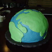 Earth Cake Well I promised my coworkers a cake, and here it is. They thought it was amazing, but it gave me a lot in learning experience. It was...