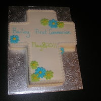 Cross Cake   1st Communion cross cake