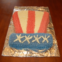 Uncle Sam's Hat Chocolate cake with buttercream icing